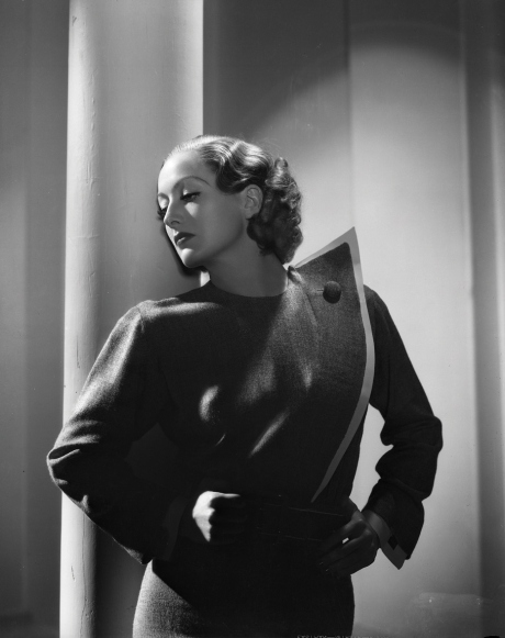 Joan Crawford in 'Today We Live', suit designed by Adrian.